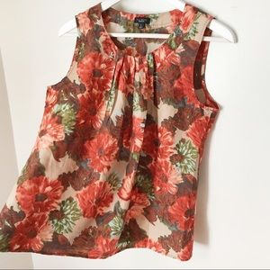 Talbots Tops - SOLD Talbots 100% Silk Floral Sleeveless Blouse. 6